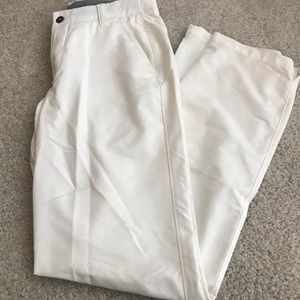 White Under Armour Golf Pants